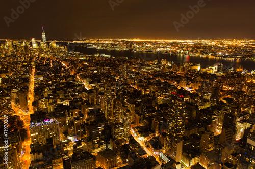 Fototapeta premium wgląd nocy w Nowym Jorku