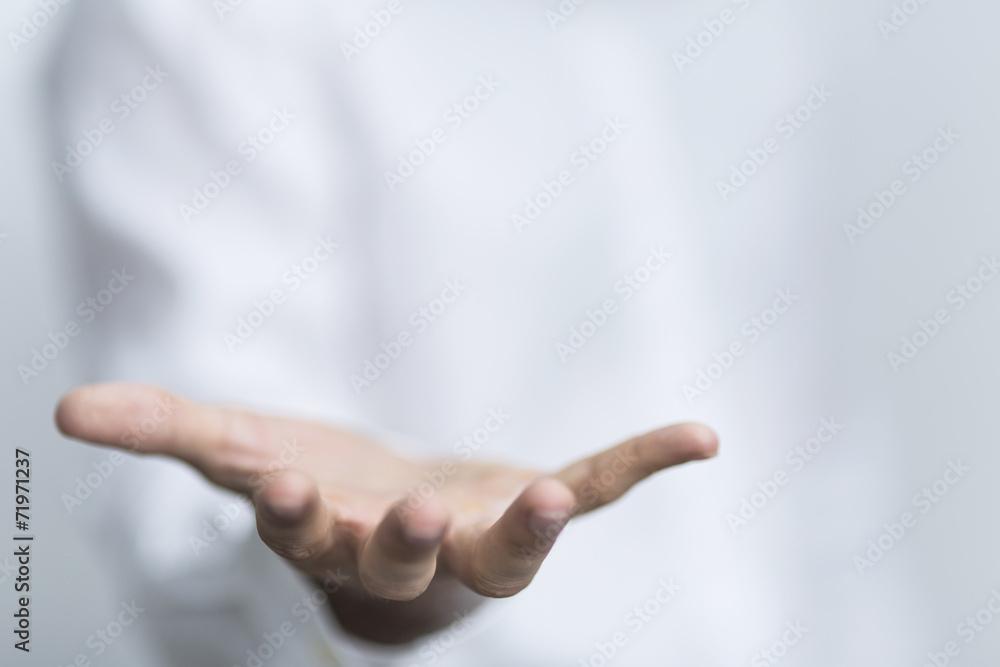 Fototapeta hand geöffnet