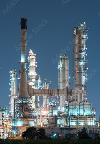 Deurstickers Industrial geb. petrochemical industrial plant power station