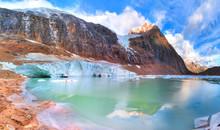 Cavell Glacier Lake