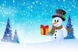 Winter snowman theme image 8