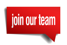 Join Our Team Red 3d Realistic...