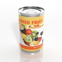 3D Mixed Fruit Metallic Can Is...