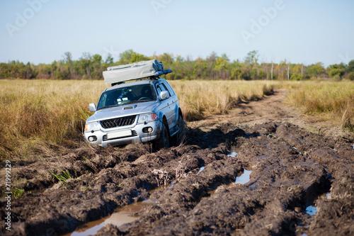Fotografie, Obraz  Car stuck