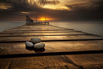 Fototapeta zachód słońca nad morzem czarnym