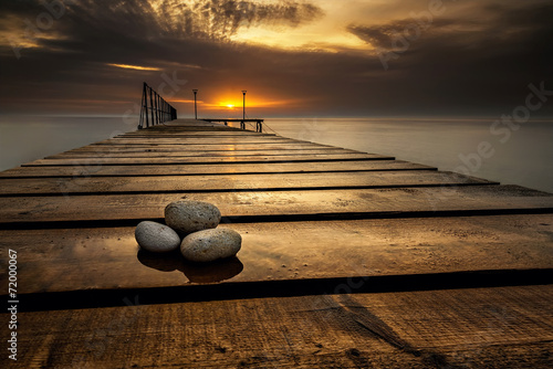 Spoed Foto op Canvas Zee zonsondergang Sea sunrise at the Black Sea coast near Varna, Bulgaria