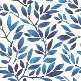 watercolor seamless pattern leaves