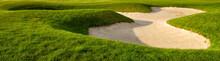 Golf Bunker On A Summer Golf Course