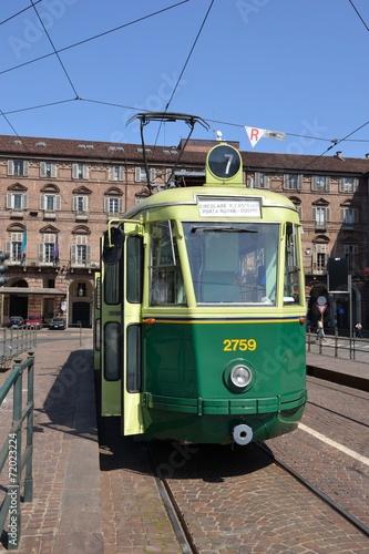 Spoed Foto op Canvas Krakau Torino, tram serie 2700