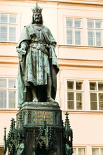 Statue Of The Czech King Charles Iv In Prague, Czech Republic