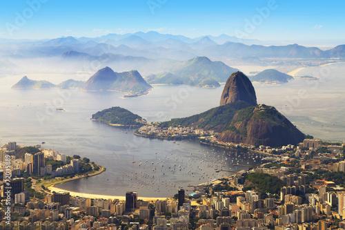 La pose en embrasure Brésil Sugarloaf, Rio de Janeiro, Brazil