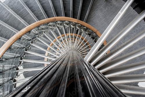Foto op Plexiglas Trappen Détail d'escalier