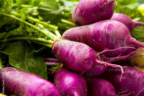 Foto op Plexiglas Groenten Organic Turnips