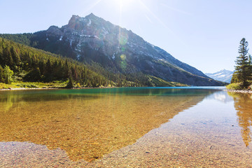 Fototapeta krystalicznie czyste jezioro górksie