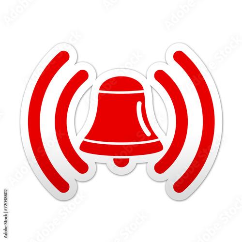 Fotomural Pegatina simbolo rojo campana de alarma