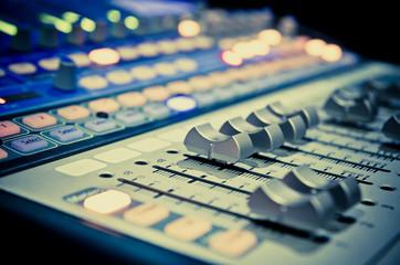 Naklejka music mixer