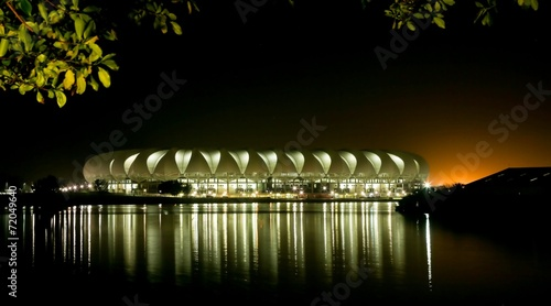 Cadres-photo bureau Stade de football Port Elizabeth Soccer Stadium at Night