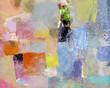canvas print picture - malerei abstrakt opak lasierend