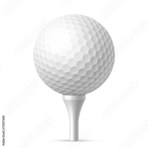 Valokuva  Golf ball on white tee