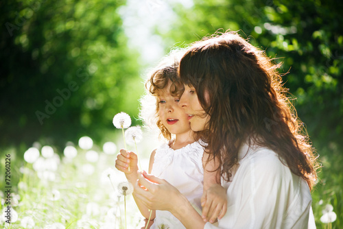 daughter with her mother together outdoors Poster