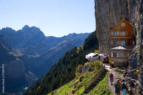 Fotografia, Obraz Berggasthaus Aescher - Alpstein - Alpen