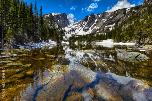 Tuinposter Natuur Park Dream Lake at the Rocky Mountain National Park