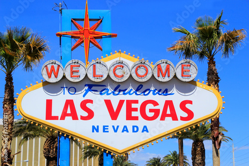Photo  Welcome to Fabulous Las Vegas sign, Nevada