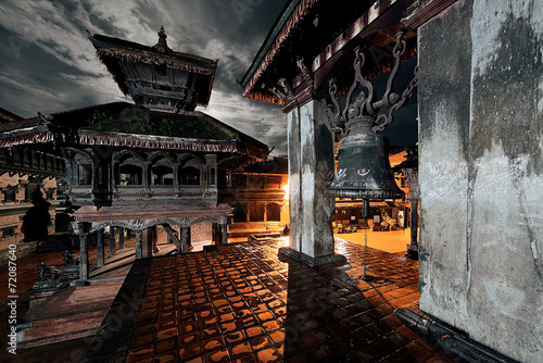 Wall Murals Nepal Old Durbar Square bell at Bhaktapur