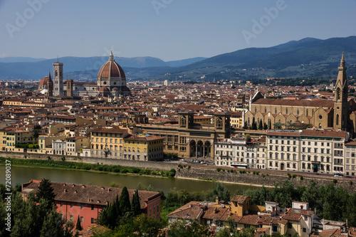 Foto op Aluminium Florence Firenze duomo panorama