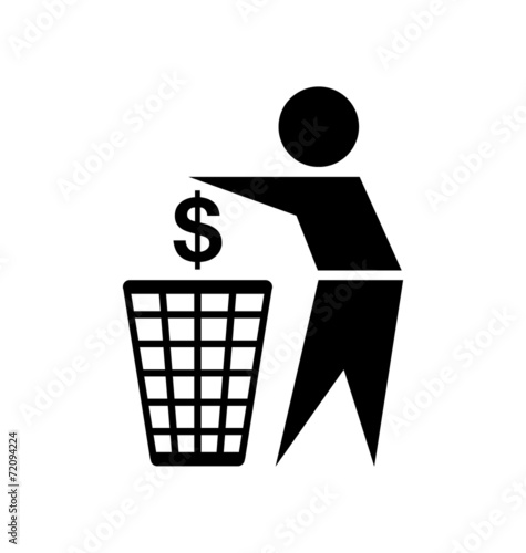 Fototapety, obrazy: Do not waste money icon