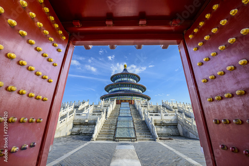 Recess Fitting Beijing Temple of Heaven in Beijing, China