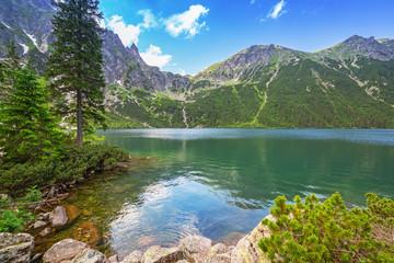 Fototapeta Eko Eye of the Sea lake in Tatra mountains, Poland