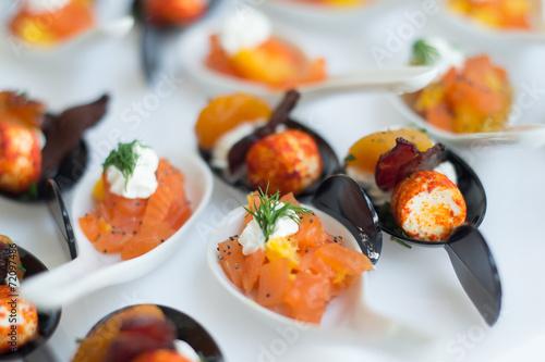 Fotografie, Obraz  Cuillère apéritif saumon
