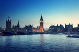 Big Ben i pałac o zmierzchu
