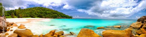 Fotografía Anse Georgette beach panorama in Praslin Island, Seychelles