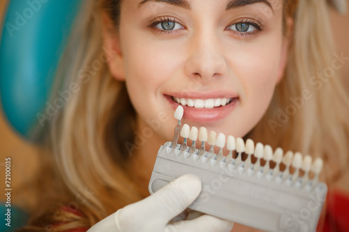 Woman at Dentist  clinic.  Teeth care and tooth health #72100035