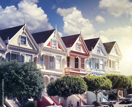 Keuken foto achterwand San Francisco painted ladies at alamo square