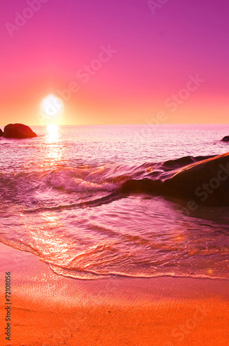 Foto op Plexiglas Rood Background Twilight Landscape