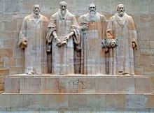 Reformation Monument In Geneva, Switzerland.