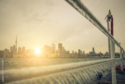 Toronto Skyline and suggestive sun