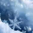 canvas print picture - Snowflake Edge