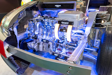 Bangkok, Thailand - February 2, 2014 :  Engine Display Of Toyota