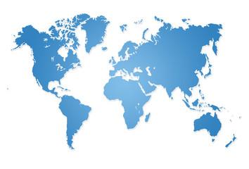 Fototapeta samoprzylepna Modern world map illustration