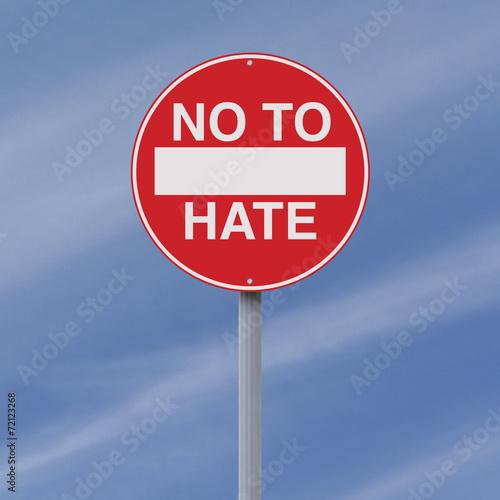 Fotografia, Obraz  No to Hate