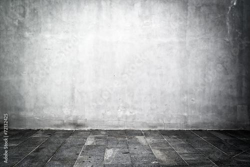 Empty room as backdrop