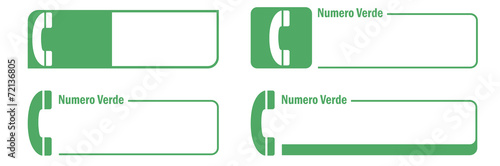 Numero verde set Tapéta, Fotótapéta