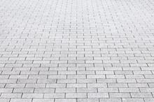 Close - Up Street Cement Block Floor Background