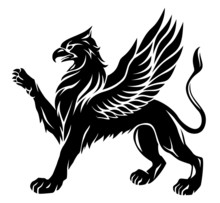 Standing Griffin With Lifted Paw