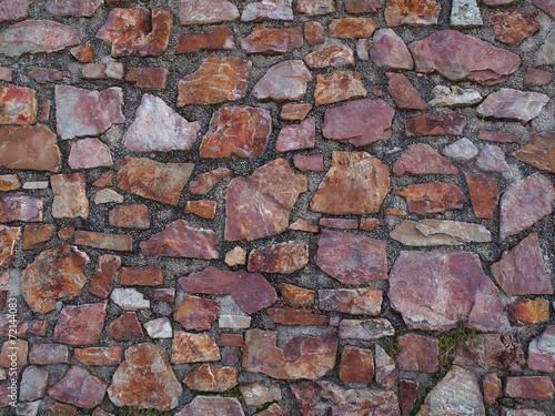 In de dag Stenen Stützmauer