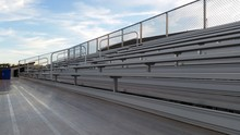 Empty Football Bleachers